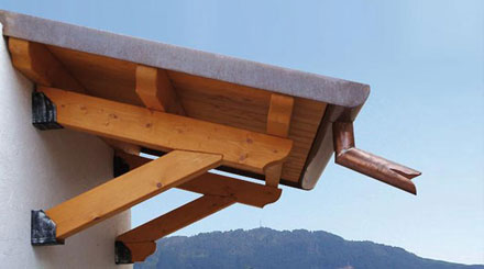 Pensilina in legno lamellare dwg
