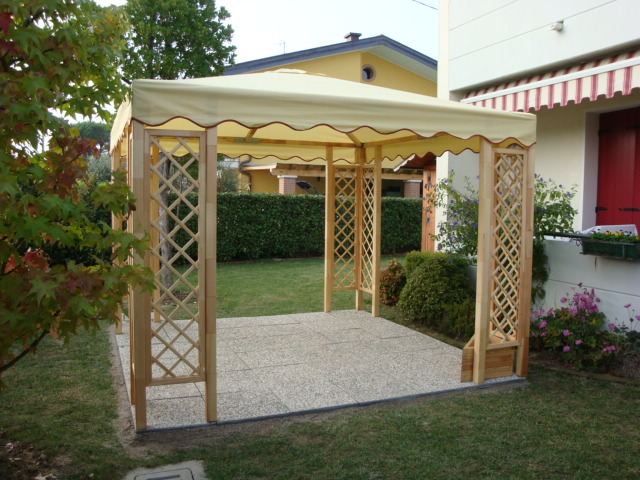 Favoloso Gazebo in legno - Venezia - Lino Quaresimin Maerne di Martellago MX13