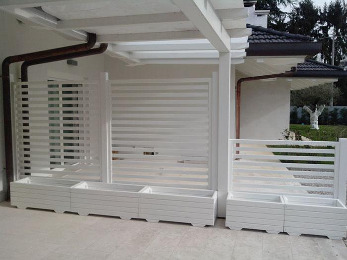 grigliati bianchi per giardino profilati alluminio