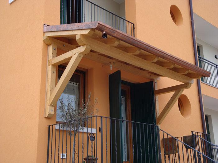 Pensiline in legno venezia lino quaresimin maerne di for Tettoie in legno usate