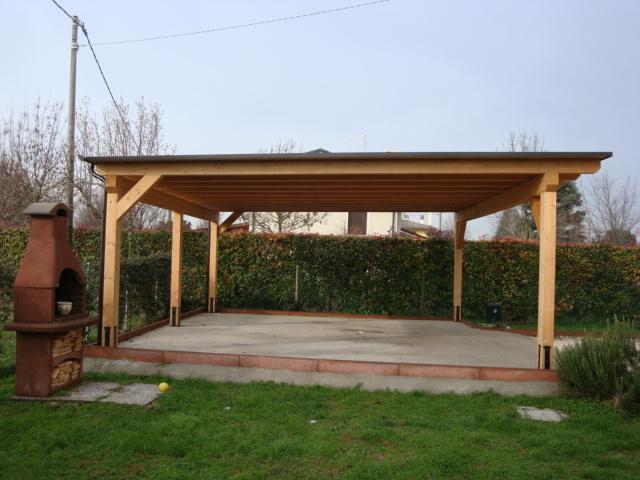 Tettoia auto legno 100 images tettoie in legno venezia for Due idee di garage per auto